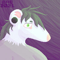 a pixel icon of Babbage's main fursona, Odds